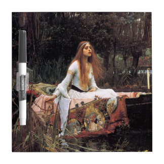 The lady of shalott painting dry erase board