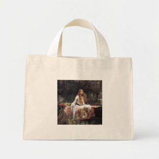 The lady of shalott painting mini tote bag