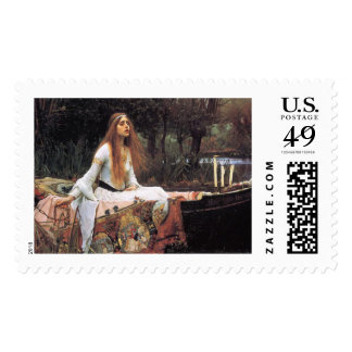 The lady of shalott painting stamp