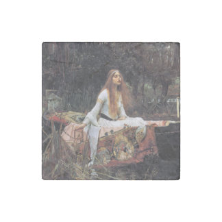 The lady of shalott painting stone magnet