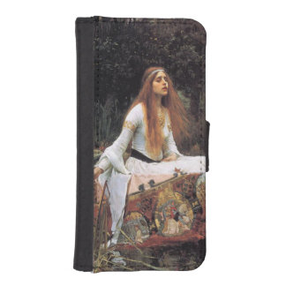 The lady of shalott painting wallet phone case for iPhone SE/5/5s