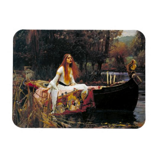 The Lady of Shalott Rectangle Magnets