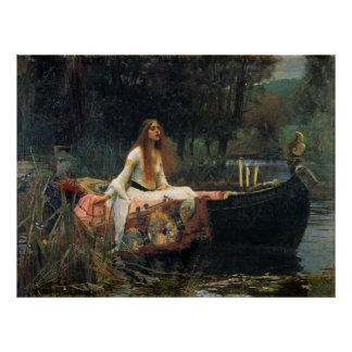 The Lady Of Shalott - Reproduction Art Poster