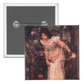The Lady of Shalott study Buttons