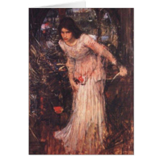 The Lady of Shalott (study) Card