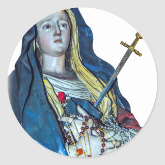 The Lady of Sorrows Classic Round Sticker