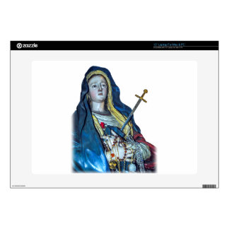 "The Lady of Sorrows Vinyl Device Protection Skin Decal For 15"" Laptop"