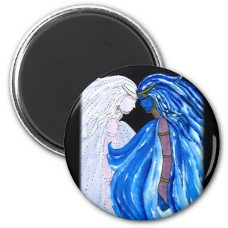 The Lady of the Blue Flame 2 Inch Round Magnet