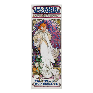 The Lady of the Camellias by Mucha Poster