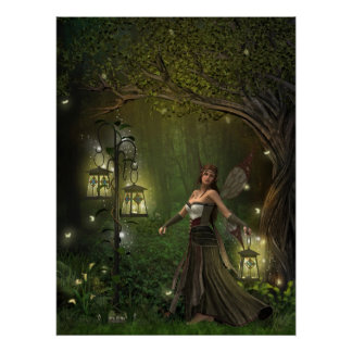 The Lady of the Lanterns Print