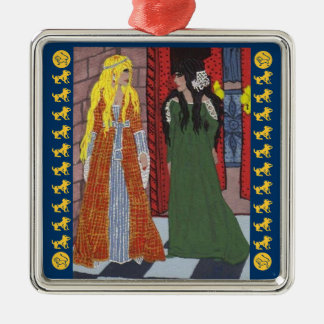 The Lady & The Lion Christmas Ornaments