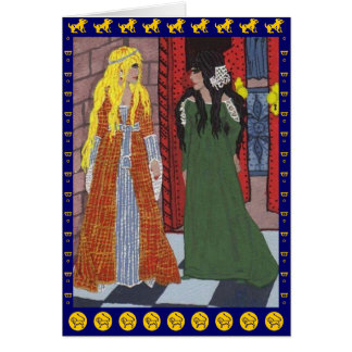 The Lady & the Lion Greeting Card