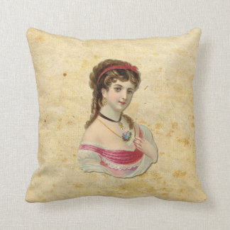 The Lady Throw Pillows