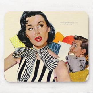 The Lady Was Insulted Mouse Pad