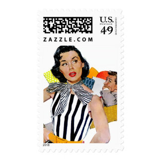 The Lady Was Insulted Postage Stamp
