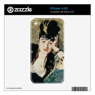 The Lady with Fans Decal For The iPhone 4S