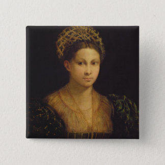 The Lady with the Green Turban Pinback Button