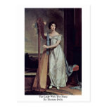 The Lady With The Harp By Thomas Sully Postcards