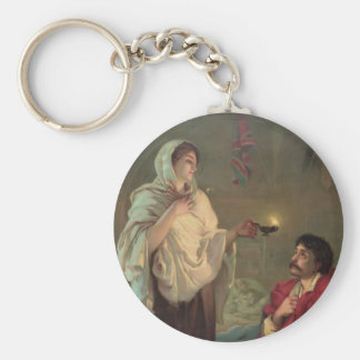 The Lady with the Lamp (Florence Nightingale) Basic Round Button Keychain