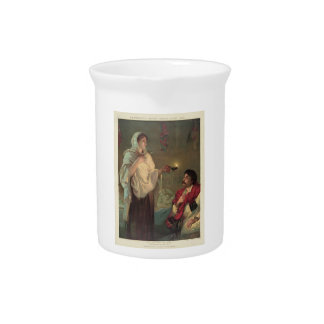 The Lady with the Lamp (Florence Nightingale) Beverage Pitcher