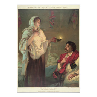 The Lady with the Lamp (Florence Nightingale) Card