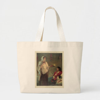 The Lady with the Lamp (Florence Nightingale) Large Tote Bag
