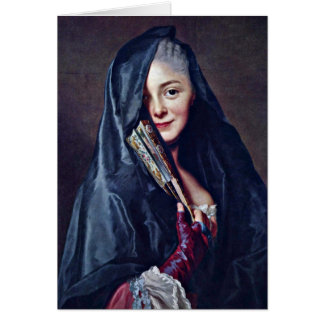The Lady With The Veil By Alexander Roslin Greeting Card