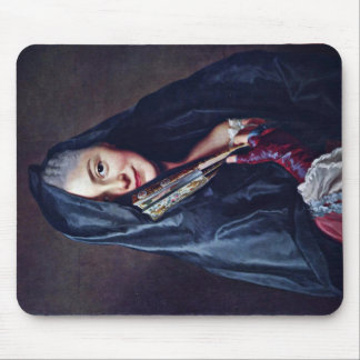 The Lady With The Veil The Artist S Wife Mousepad
