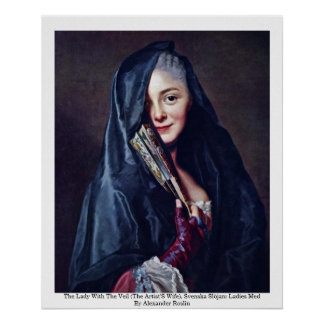 The Lady With The Veil (The Artist'S Wife) Posters