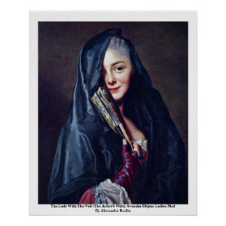 The Lady With The Veil (The Artist'S Wife) Print