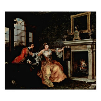 The Lady's Last Stake. by William Hogarth Poster