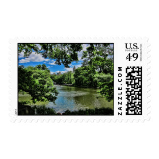 The Lake, Central Park Postage