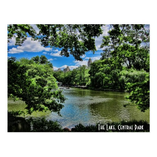 The Lake, Central Park Postcard
