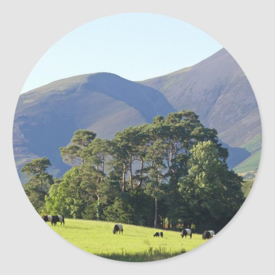 The Lake District-Keswick Classic Round Sticker