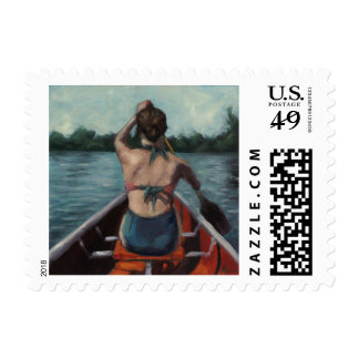 """The Lake"" Fine Art Postage Stamp"