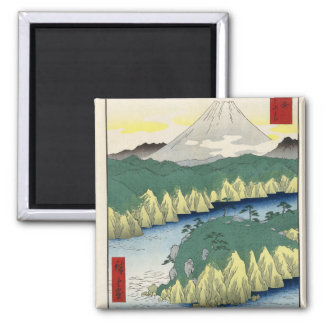 The Lake in Hakone 2 Inch Square Magnet