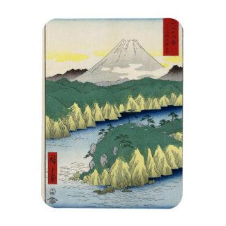 The Lake in Hakone Rectangular Photo Magnet