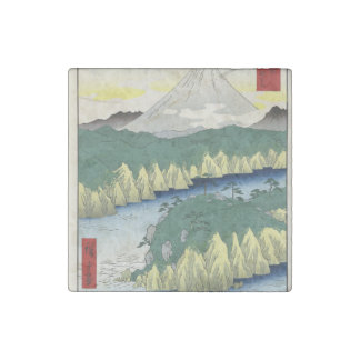 The Lake in Hakone Stone Magnet