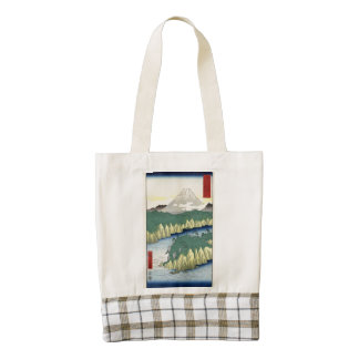 The Lake in Hakone Zazzle HEART Tote Bag