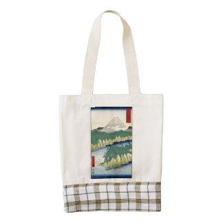 The Lake in Hakone Zazzle HEART Tote Bag