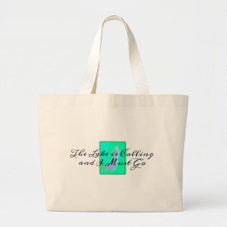 The Lake is Calling I Must Go Large Tote Bag