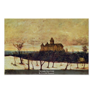 The Lake Neuchâtel By Courbet Gustave Poster