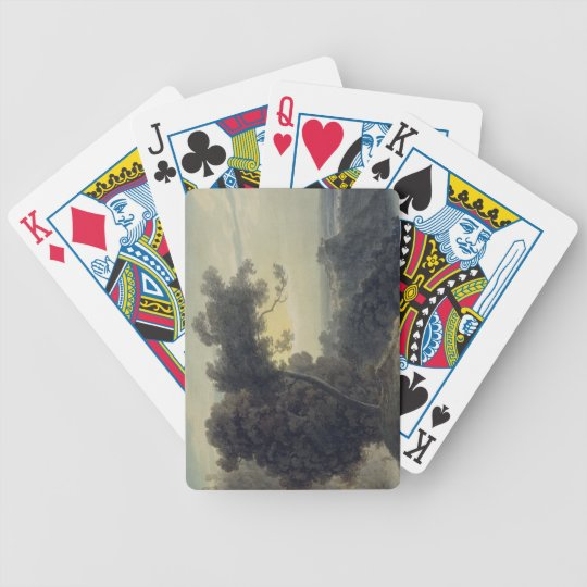 The Lake of Albano and Castle Gandolfo, c.1783-85 Bicycle Playing Cards