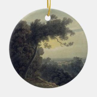 The Lake of Albano and Castle Gandolfo, c.1783-85 Ceramic Ornament