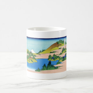The lake of Hakone in the Segami province Hokusai Coffee Mug