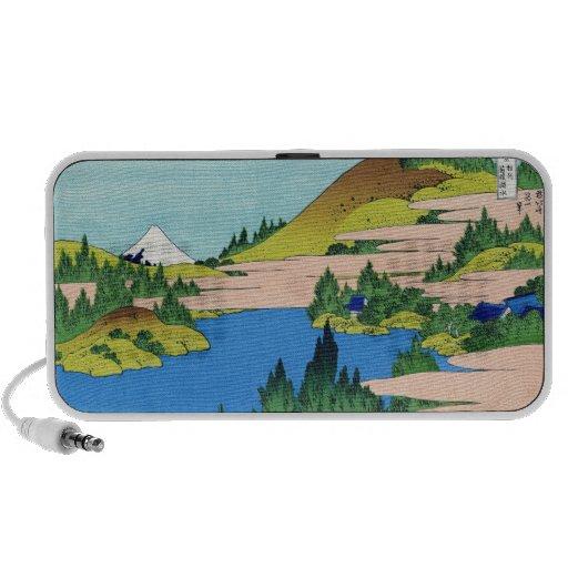 The lake of Hakone in the Segami province Hokusai Laptop Speakers