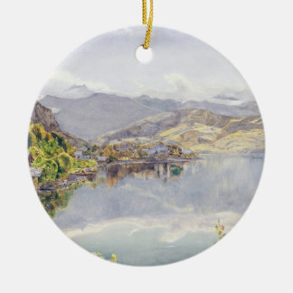 The Lake of Lucerne, Mount Pilatus in the Distance Ceramic Ornament