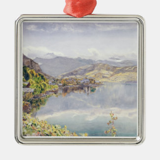 The Lake of Lucerne, Mount Pilatus in the Distance Metal Ornament