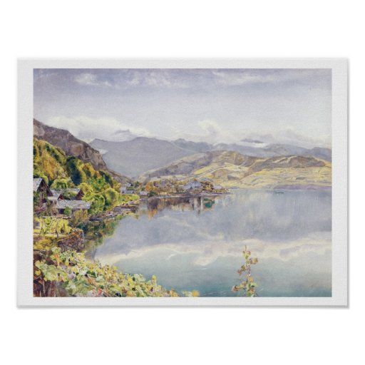 The Lake of Lucerne, Mount Pilatus in the Distance Poster