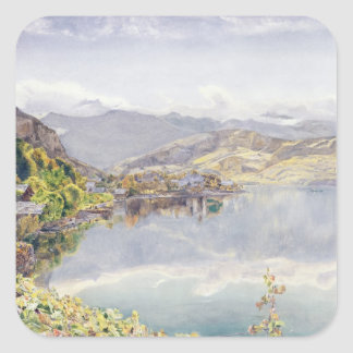 The Lake of Lucerne Mount Pilatus in the Distance Sticker